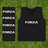 FORZA Training Bibs [10 Pack] - Pro Football Training Vests - Range of Colours & Sizes | Multi-Sport Bibs | Kids/Adult Bib |