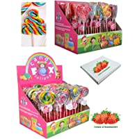 Kids Party Bag Sweets Spiral Rainbow Unicorn Lollipop Candies 5-8 Different Shapes Kids Gifts for Children (10)