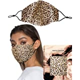 The Valley Leopard Print Silk Mask by KARIZMA 19 Momme 100% Mulberry Silk 6A Grade Fabric Face Mask