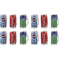 Parteet New Coke/Pepsi Cane Shape Ball Pens with Keychain – Pack of 12Pcs for Birthday Party Return Gifts for Kids