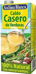 Gallina Blanca Caldo Casero de Verduras, 100% Natural, 1L