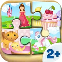 Spiele für Kleinkinder - Holz Puzzle für Mädchen (6 Teile) 2+ (von Happy Touch Kinderspiele)
