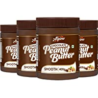 Alpino Chocolate Peanut Butter Smooth 1.6 KG | Made with Roasted Peanuts, Cocoa Powder & Choco Chips | 100% Non-GMO…