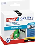 tesa On & Off Klettband, schwarz, 2,5m x 20mm