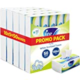 Fine, Sterilized Facial Tissues, Fluffy, 150X2 Ply White Tissues, pack of 50 boxes