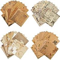 120 Feuilles de Papier de Scrapbooking, Papier Kraft Vintage Fournitures de Scrapbooking de Journalisation Décor de…