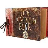 Vienrose Album Fotografico Fai-da-Te Our Adventure Book Album Foto di Famiglia Regalo per Compleanno Anniversary Matrimonio N