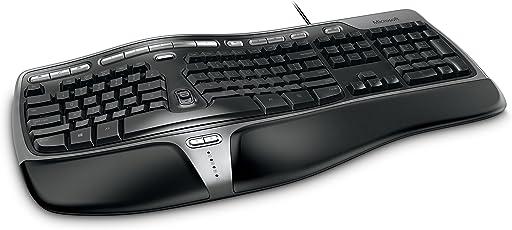 Microsoft Natural Ergo 4000 Wired Keyboard (Black)