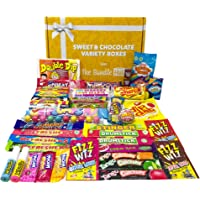 Retro Sweets Gift Box Hamper Selection Box from The Bundle Hut: Packed with 41 Different Old School 90's Retro British…
