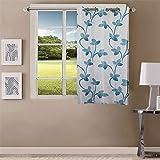 Queenzliving Mayfair Curtain, Window 5 feet- Pack of 1, Sky Blue