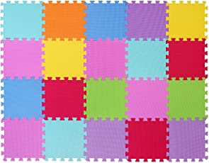 MEDIAWAVE Store Tappeto gioco CIGIOKI puzzle componibile colorato 20 pezzi 30X30 cm schiuma eva