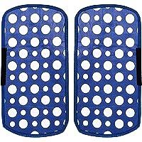 Heart Home Dots Design PVC 2 Pieces Fridge/Refrigerator Handle Cover (Sky Blue) CTHH05390