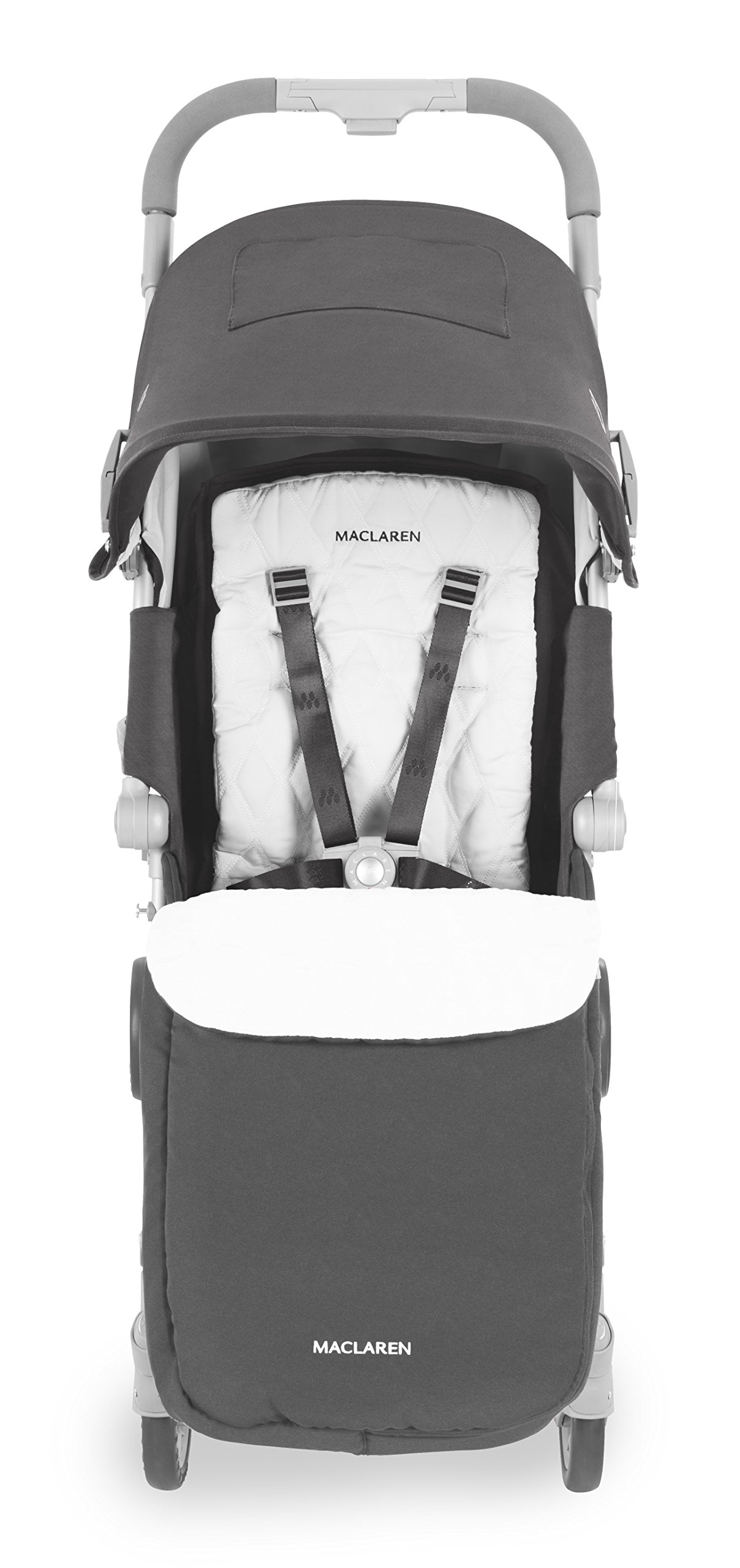 Maclaren Techno XLR arc Travel System Stroller Maclaren Basic weight of 6.7kg/14.8lb; ideal for new-borns and children up to 25kg/55lb (usa 65lb) Maclaren is the only brand to offer a sovereign lifetime warranty Extendable upf 50+ sun canopy and built-in sun visor 5