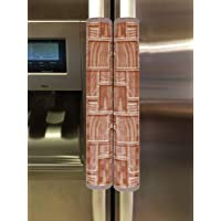 Kuber Industries Checkered Design PVC 2 Pieces Fridge/Refrigerator Handle Cover (Brown) - CTKTC039697