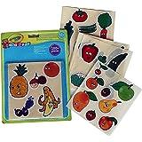 Crayola - Mini Kids - Gommettes fruits et légumes - Coloriage pour enfant et tout petit - 256405.024