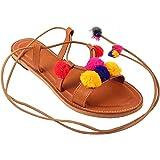 Femme Royale Jaipuri Pom Pom Designer Flat/Sandal for Women & Girls