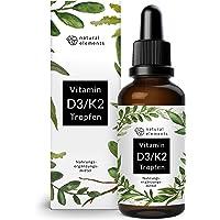 Vitamin D3 + K2 Tropfen 50ml - Premium: 99,7+% All-Trans (K2VITAL® von Kappa) + hoch bioverfügbares D3 - Laborgeprüft…