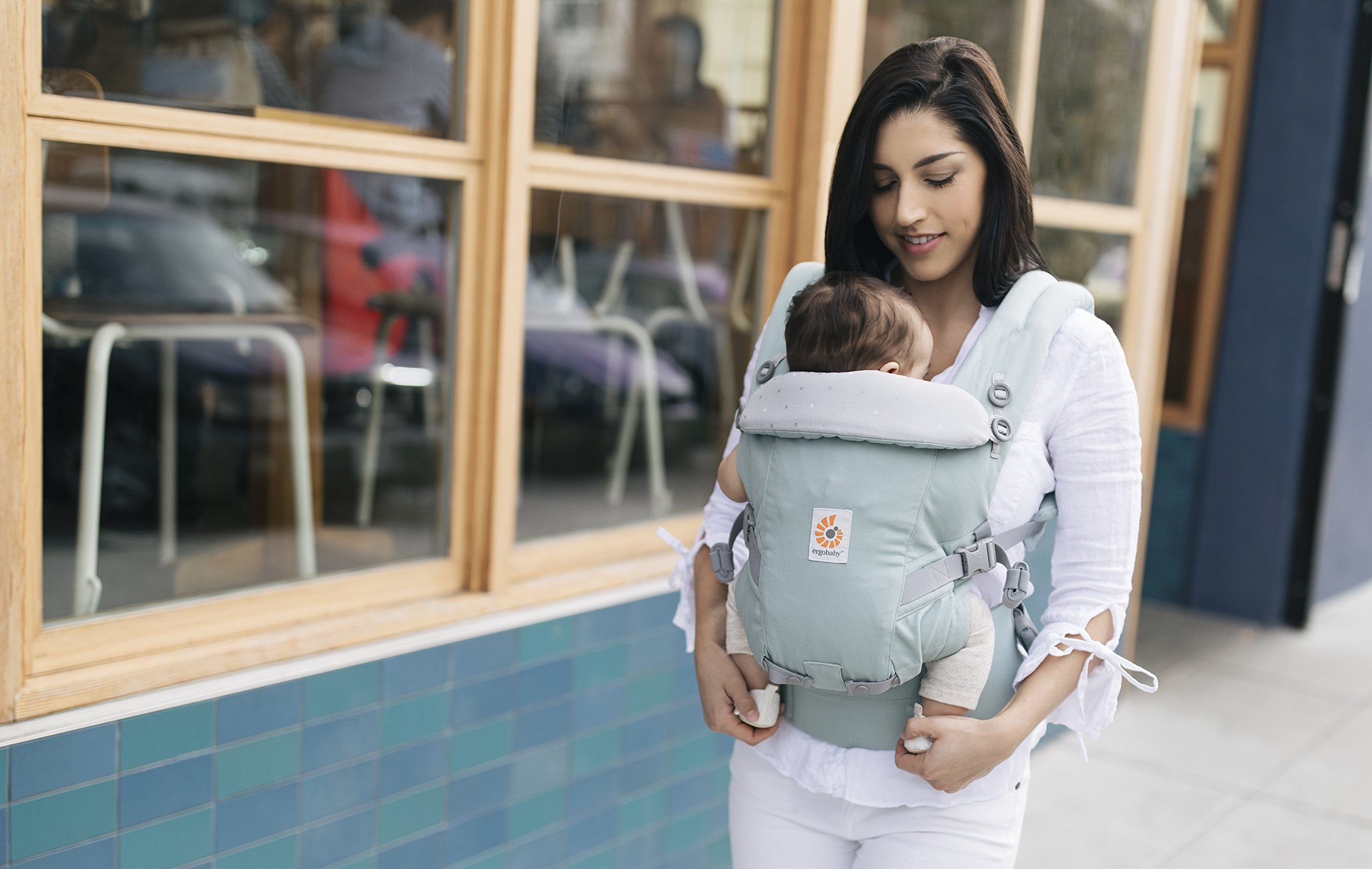 Ergobaby Baby Carrier for Newborn to Toddler up to 20kg, Adapt Frosted Mint 3-Position Ergonomic Child Carriers Front Backpack Ergobaby  4