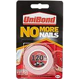 UniBond No More Nails op een rol, dubbelzijdig plakband voor betrouwbare onmiddellijke hechting, multifunctioneel plakband, p
