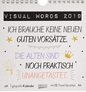 Visual Words Black PK 235119 2019: Aufstellbarer Typo Art