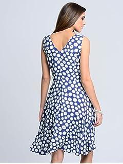 Alba Moda Damen Kleid Weiß: : Bekleidung