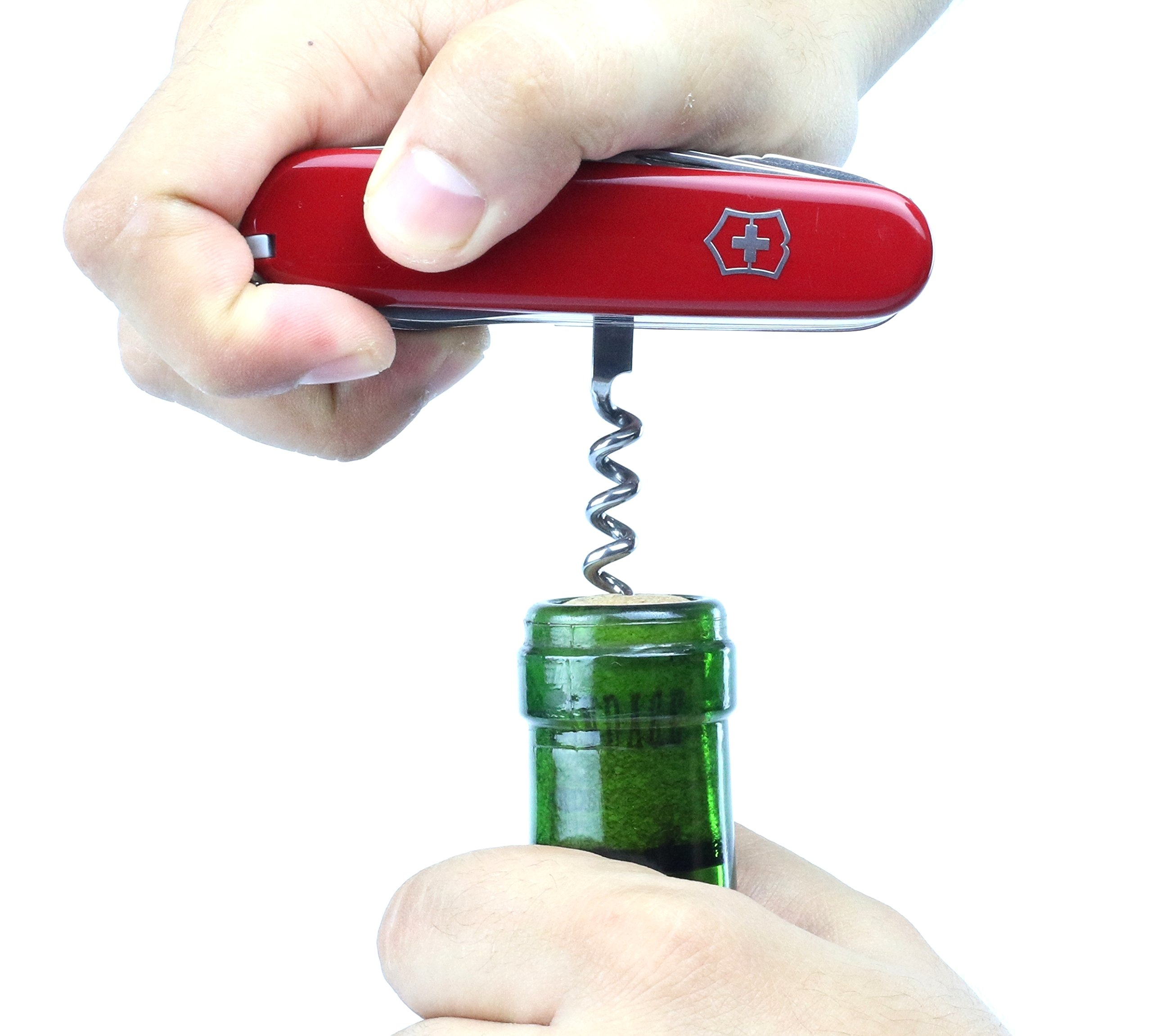 Victorinox Taschenwerkzeug Offiziersmesser Swiss Champ Rot Swisschamp Officer's Knife, Red, 91mm 12