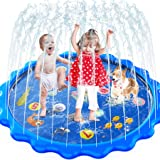 MOZOOSON Juguete para Niños-Splash Pad, Piscina para Niños, Tapete de Juegos de Agua 170CM Almohadilla Aspersor de Juego Agua