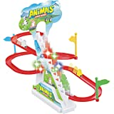 Popsugar Happy Dolphin Race Track Set with Music and Lights, Multicolor