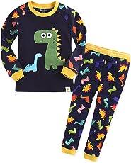 Vaenait baby 74-122 Kinder Jungen Bekleidung süß Kostüm Langarm Dinosaurier-Motiv Zweiteilig Schlafanzug Buddy Dino