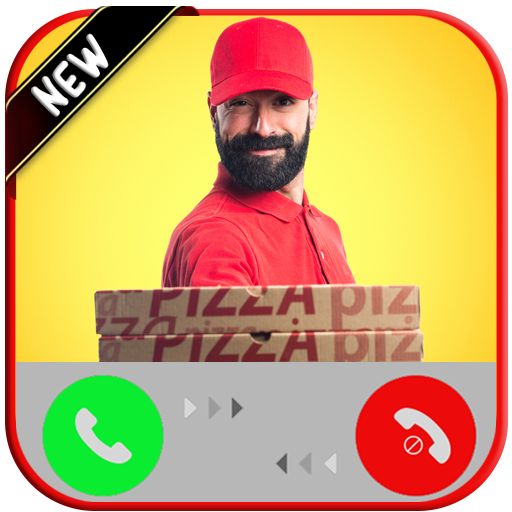 Incoming Fake Call From  Pizza  Delivery - Free Fake Phone Calls ID Pro & Free Fake Test Message - PRANK 2020