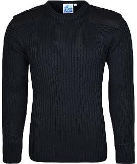 Navy Blue Reinforced Shoulder /& Elbows Highlander Military Style Pullover