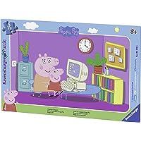 Ravensburger - 06123 - Puzzle - Devant l'ordinateur Peppa Pig - 15 pièces