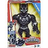 Marvel E4132 25 cm grote Playskool Heroes Super Hero Adventures Mega Mighties Black Panther figuur om te verzamelen