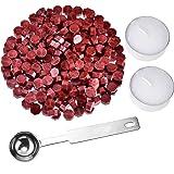 230 Pièces Cire d'Étanchéité Octogonale Bâtons de Perles avec 2 Pièces Bougies de Thé et 1 Pièce Cuillère de Fusion de Cire p