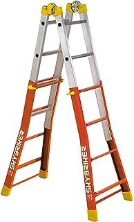Homelux 825036 Mehrzweck-Teleskopleiter 2 x 6 Stufen