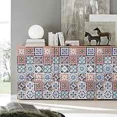 Pag Creative Casa Décor Adesivo autoadesivo in piastrelle in PVC per la stanza da bagno Cucina Decorazione da parete della parete della stanza da bagno 20cmx5m (7.87 x 196.85 pollici)