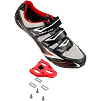 Venzo Bicycle Men's or Women's Road Cycling Riding Shoes - 3 Straps- Compatible with Peloton Shimano SPD & Look ARC…
