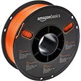 AmazonBasics PETG 3D Printer Filament, 1.75mm, Translucent Orange, 1 kg Spool