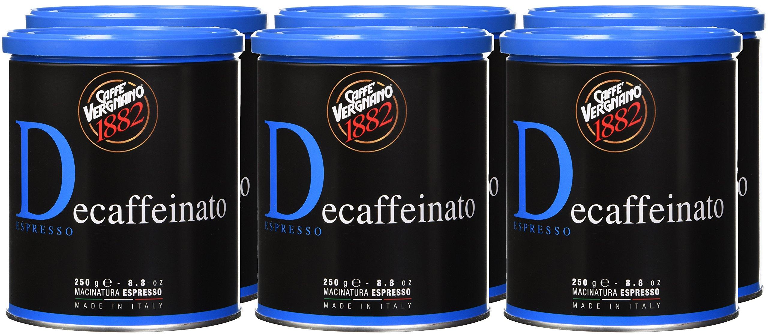 Caffè Vergnano 1882 Lattina Arabica Decaffeinata, 250 gr - 1 Pacchetto 2 spesavip