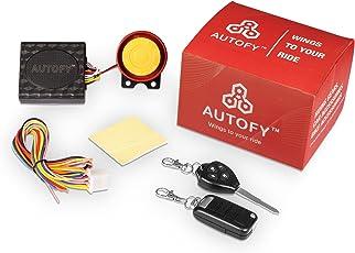 Autofy Flip-Folding Key Universal Anti-Theft Alarm System for All Bikes