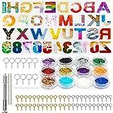 Epoxyharsvormen, 86PCS Achterwaarts Alfabet Hars Gietvorm Siliconen Mal Kit, Hars Giethars Siliconen Vorm, Alfabet Nummer Mal