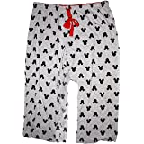 Disney Classic Mickey Mouse Womens Pajama Pants - Mickey Head Silhouette - Grey