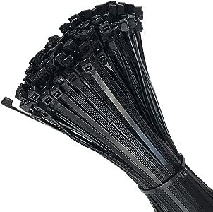 100 St/ück Stabiles Nylon Schwarz 300 x 4.8 mm Naimorui Kabelbinder