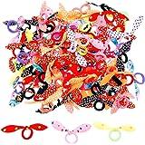 JZK 100 x Colorati codini piccoli elastici per capelli bambina con fiocco per neonata bimba piccola bomboniera pensierino reg