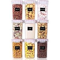 Vtopmart Lot de 9 boîtes de Conservation de Nourriture en Plastique avec Couvercle hermétique sans BPA 1,6L (Rose)