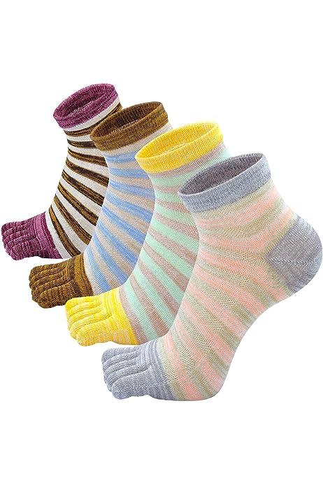 Knitido Essentials| Calcetines clásicos con dedos en algodón ...