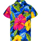 Camisa Hawaiana para Hombre Funky Casual Button Down Very Loud Manga Corta Unisex Big Flower
