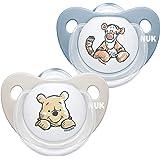 Nuk Nuk Ciuccio Happy Days | 0-6 Mesi | Succhietti In Silicone Senza Bpa | Disney Winnie The Pooh | Blu (Bambino) | 2 Pezzi -