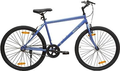 Mach City iBike Single Speed 26T Single Speed Steel Hybrid Cycle (Berry Blue) 19inch Frame