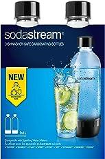 SodaStream 2Flaschen 1 Liter spülmaschinenfest, Kunststoff, transparent
